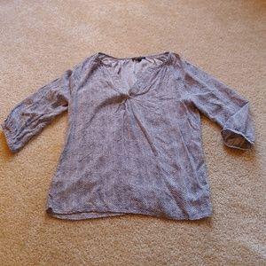 Anne Carson dark gray&white blouse